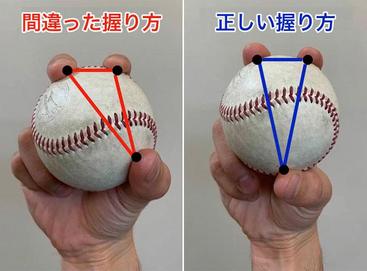 ボールの握り方1